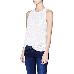 Theory Malyn Eyelet Cotton Top in White